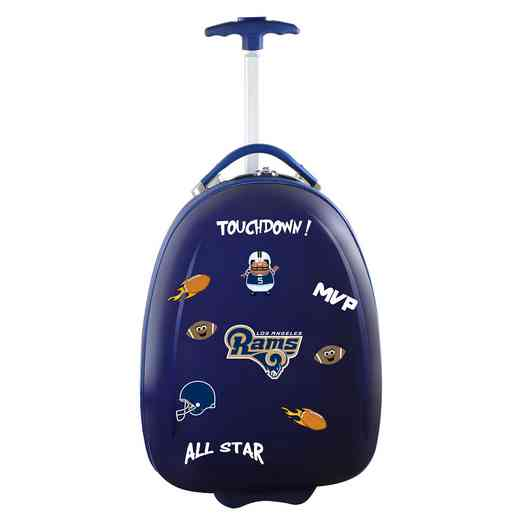 NFLRL601-NAVY: NFL Los Angeles Rams Kids Luggage Navy