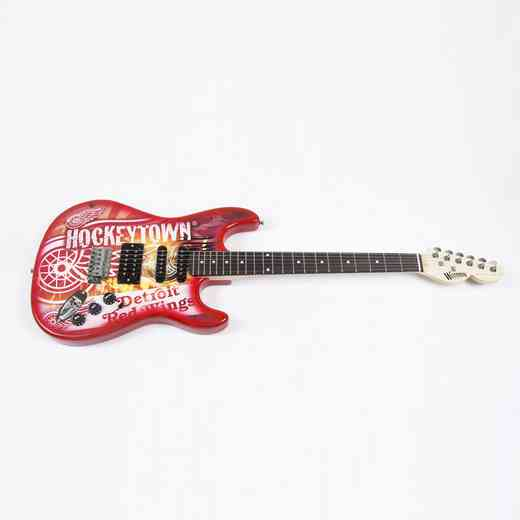 NENHL11:  Detroit Red Wings Northender Guitar