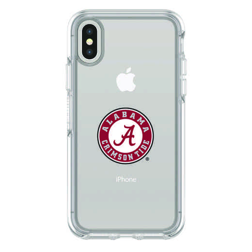 IPH-X-CL-SYM-AL-D101: FB Alabama iPhone X Symmetry Series Clear Case