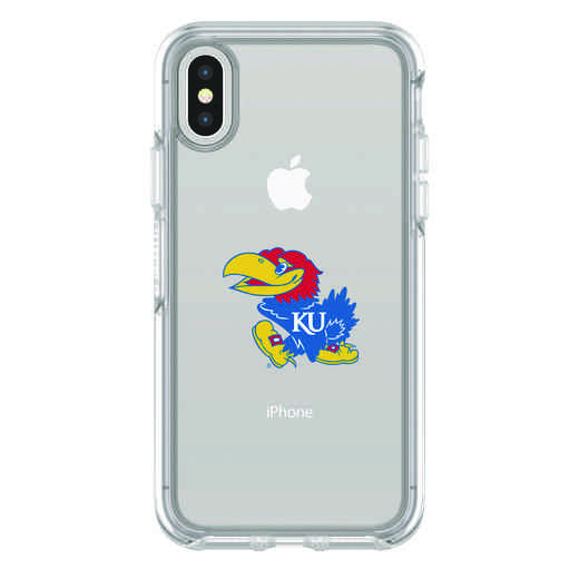 IPH-X-CL-SYM-KS-D101: FB Kansas iPhone X Symmetry Series Clear Case