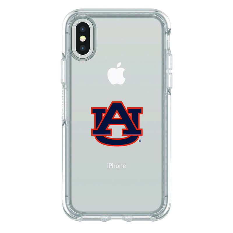 IPH-X-CL-SYM-AUB-D101: FB Auburn iPhone X Symmetry Series Clear Case