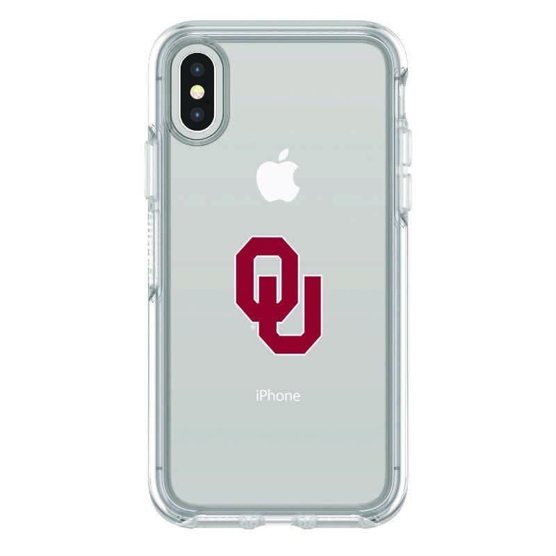IPH-X-CL-SYM-OKC-D101: FB Oklahoma iPhone X Symmetry Series Clear Case