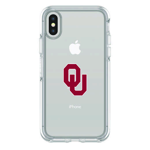 IPH-X-CL-SYM-OKC-D101: FB Oklahoma iPhone X Symmetry Series Clear Case