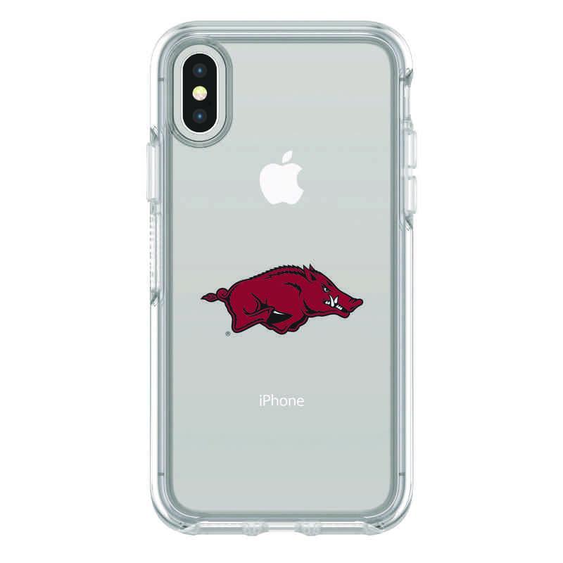 IPH-X-CL-SYM-ARK-D101: FB Arkansas iPhone X Symmetry Series Clear Case