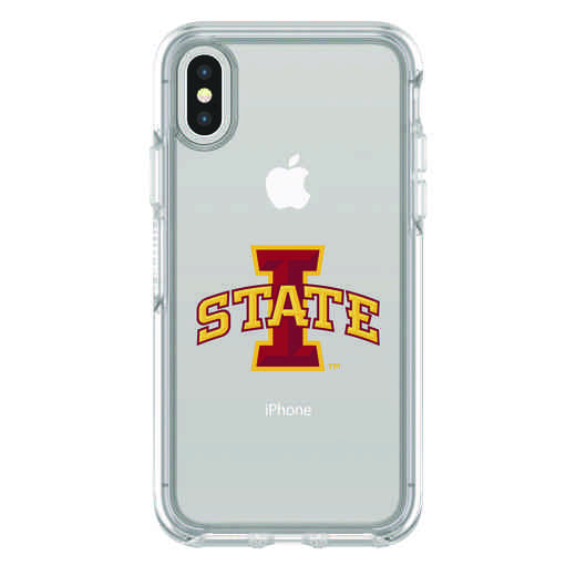 IPH-X-CL-SYM-IAS-D101: FB Iowa St iPhone X Symmetry Series Clear Case