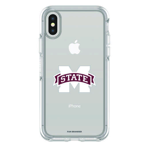 IPH-X-CL-SYM-MSST-D101: FB Mississippi St iPhone X Symmetry Series Clear Case