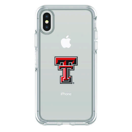 IPH-X-CL-SYM-TT-D101: FB Texas Tech iPhone X Symmetry Series Clear Case