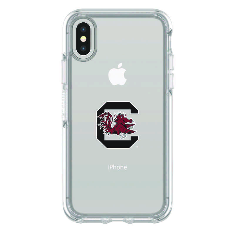 IPH-X-CL-SYM-USC-D101: FB South Carolina iPhone X Symmetry Series Clear Case