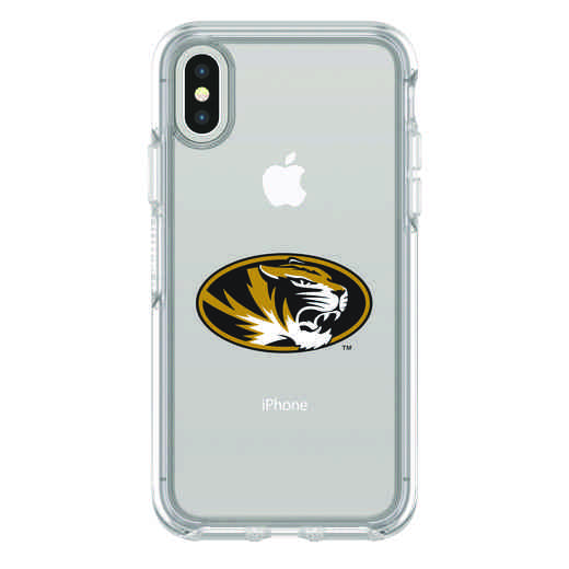 IPH-X-CL-SYM-MIS-D101: FB Missouri iPhone X Symmetry Series Clear Case