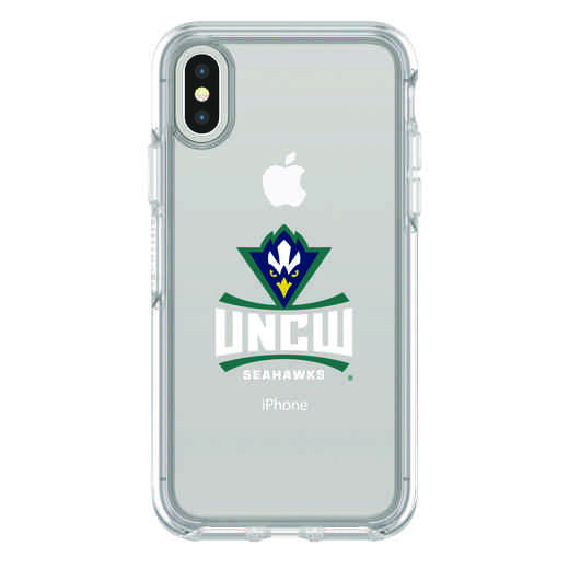 IPH-X-CL-SYM-UNCW-D101: FB UNC Wilmington iPhone X Symmetry Series Clear Case