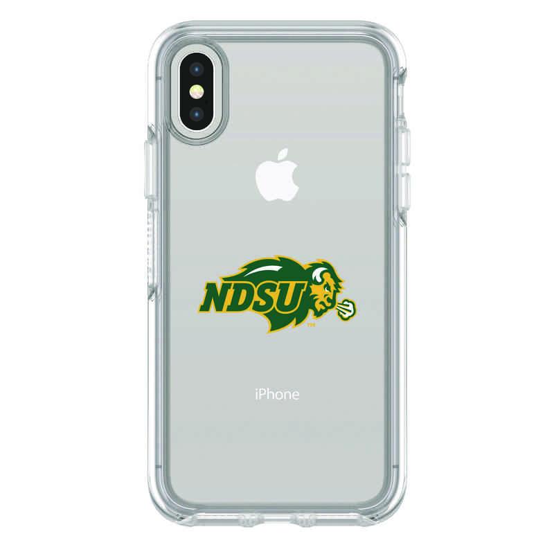 IPH-X-CL-SYM-NDSU-D101: FB North Dakota St iPhone X Symmetry Series Clear Case