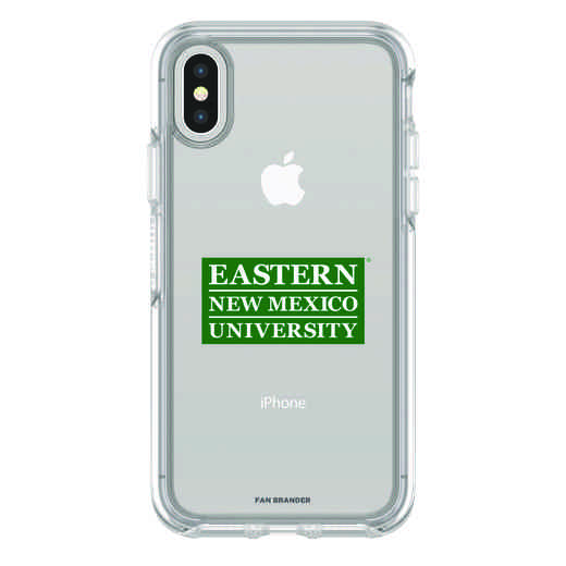 IPH-X-CL-SYM-ENMU-D101: FB Eastern New Mexico iPhone X Symmetry Series Clear Case
