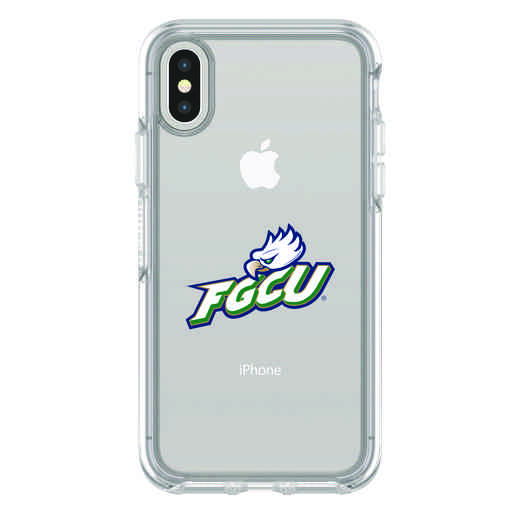 IPH-X-CL-SYM-FGCU-D101: FB Florida Gulf Coast iPhone X Symmetry Series Clear Case