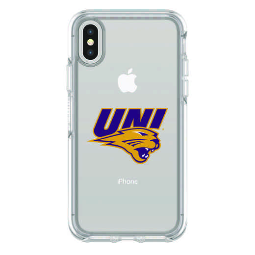 IPH-X-CL-SYM-UNI-D101: FB Northern Iowa iPhone X Symmetry Series Clear Case