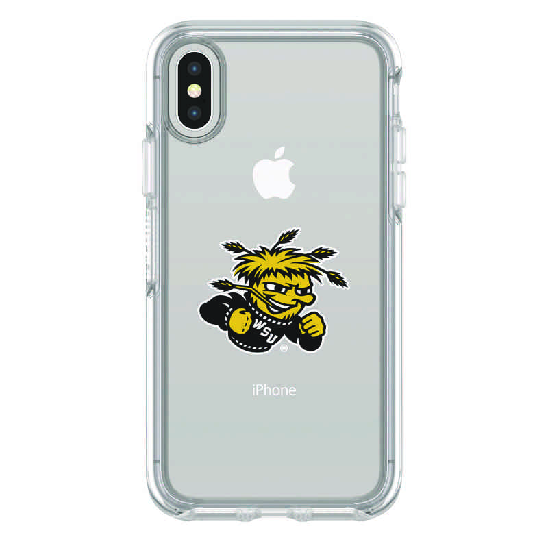 new arrivals 901b8 77f6d OtterBox Clear Symmetry case with Wichita State Shockers for iPhone X