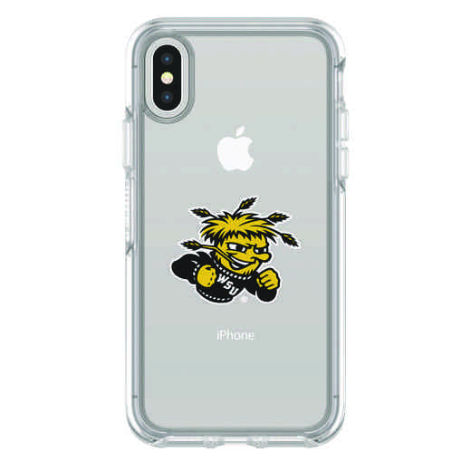 IPH-X-CL-SYM-WSU-D101: FB Wichita St iPhone X Symmetry Series Clear Case
