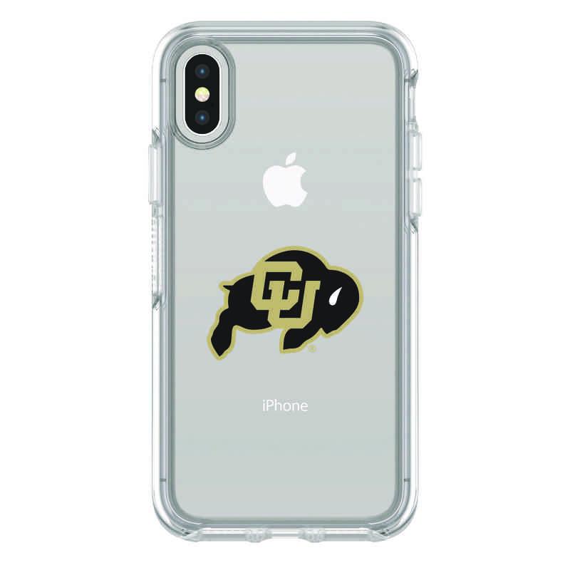 IPH-X-CL-SYM-CU-D101: FB Colorado iPhone X Symmetry Series Clear Case