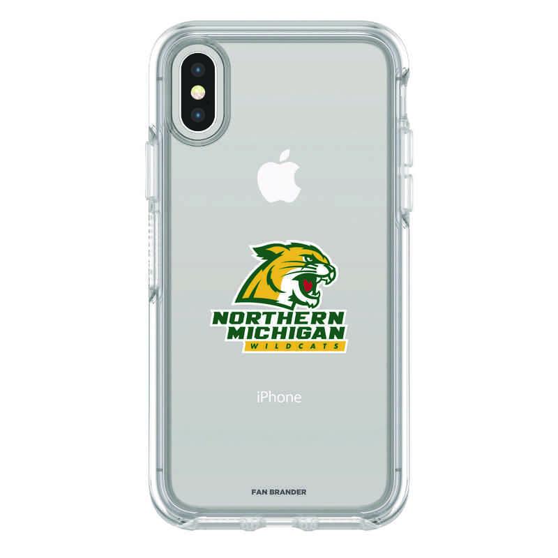 IPH-X-CL-SYM-NOMU-D101: FB Northern Michigan iPhone X Symmetry Series Clear Case