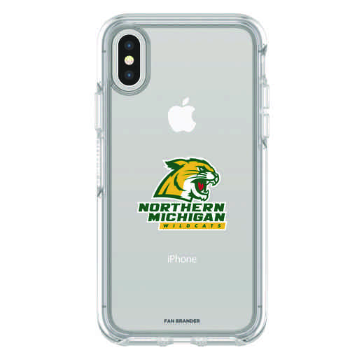 IPH-X-CL-SYM-NOMU-D101: FB Northern Michigan iPhone X Symmetry Series Clear Case