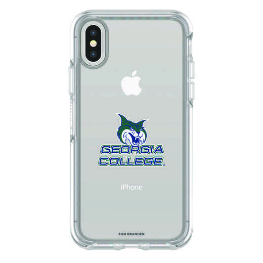 IPH-X-CL-SYM-GCS-D101: FB Georgia St iPhone X Symmetry Series Clear Case