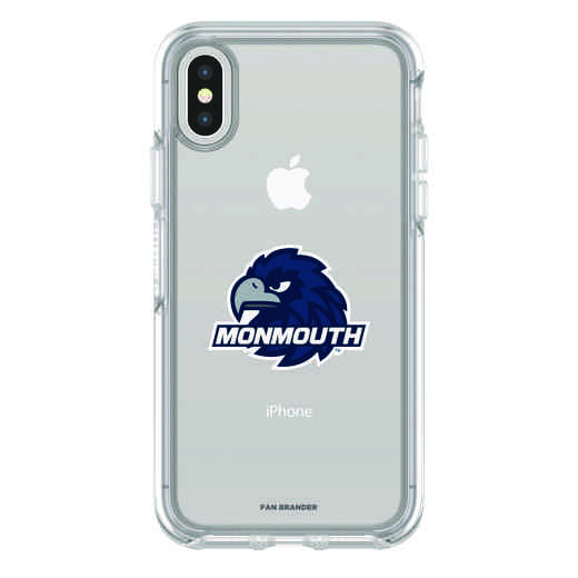 IPH-X-CL-SYM-MONU-D101: FB Monmouth iPhone X Symmetry Series Clear Case
