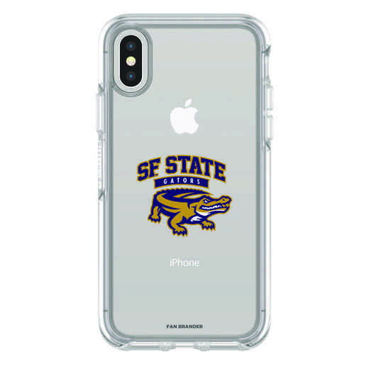 IPH-X-CL-SYM-SFSU-D101: FB San Francisco St iPhone X Symmetry Series Clear Case
