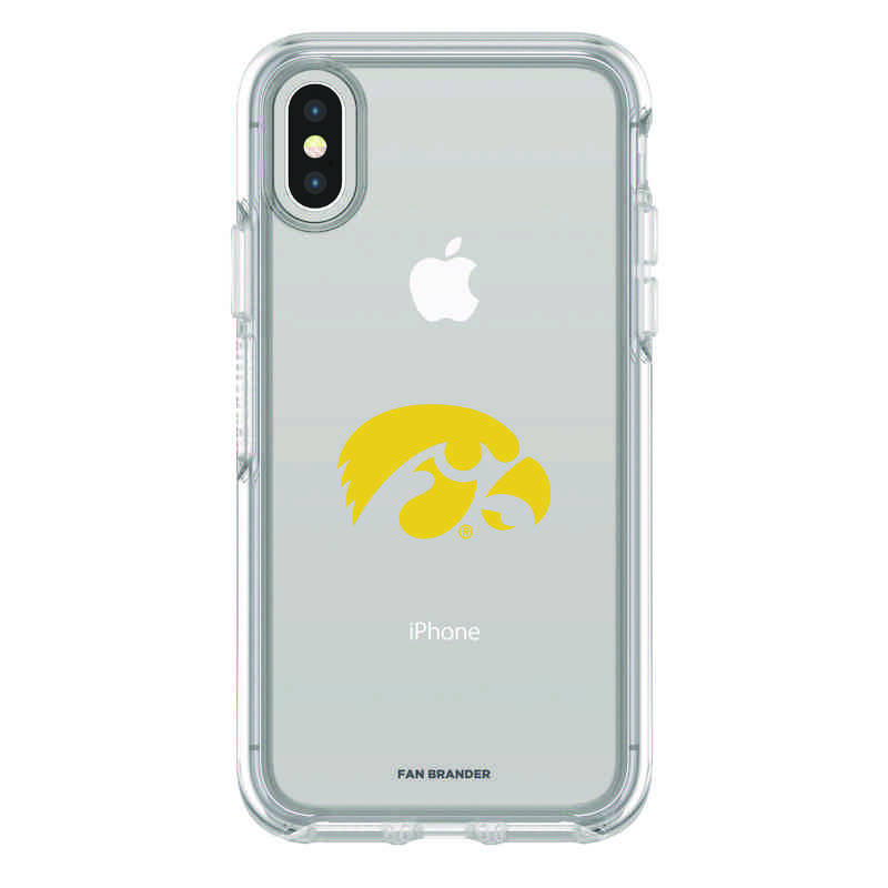 IPH-X-CL-SYM-UIA-D101: FB Iowa iPhone X Symmetry Series Clear Case