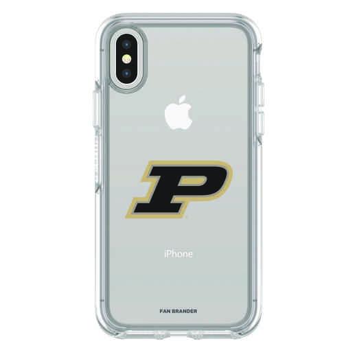 IPH-X-CL-SYM-PUR-D101: FB Purdue iPhone X Symmetry Series Clear Case