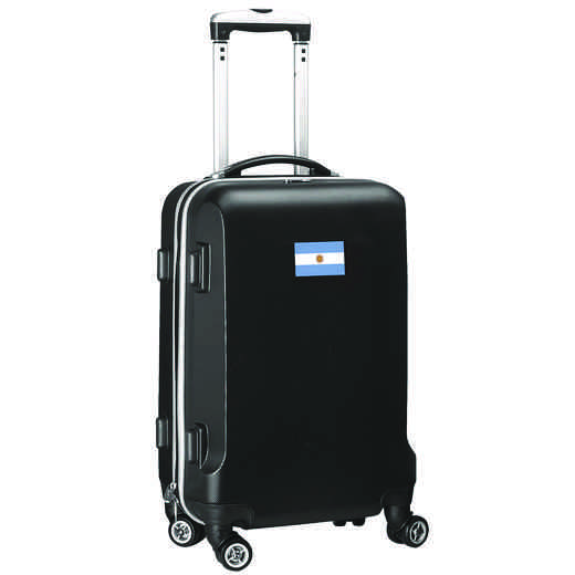 "FLARL204-BLACK: Argentina Flag 21"" Carry-On Spinner Black"