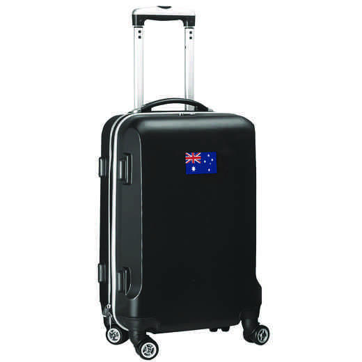 "FLAUL204-BLACK: Australia Flag 21"" Carry-On Spinner Black"