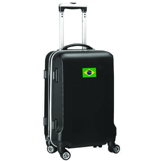 "FLBRL204-BLACK: Brazil Flag 21"" Carry-On Spinner Black"
