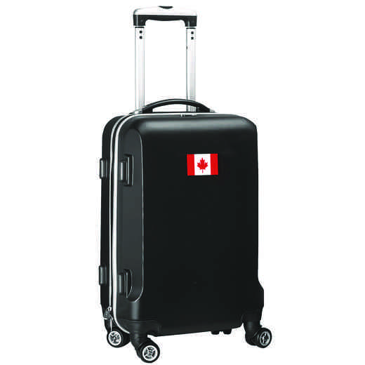"FLCAL204-BLACK: Canada Flag 21"" Carry-On Spinner Black"