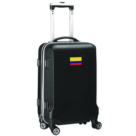 "FLCOL204-BLACK: Colombia Flag 21"" Carry-On Spinner Black"