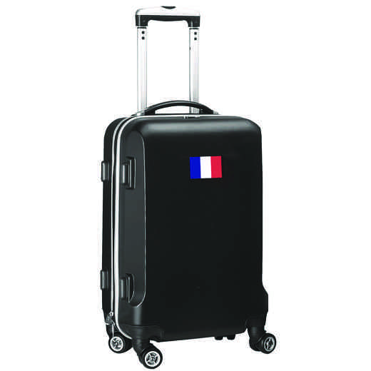 "FLFRL204-BLACK: France Flag 21"" Carry-On Spinner Black"
