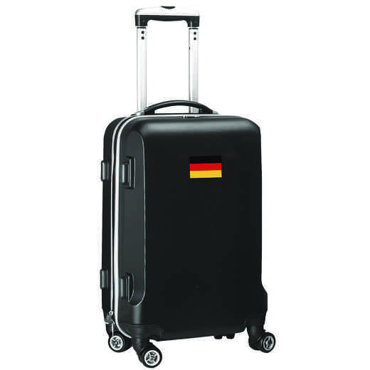 "FLGEL204-BLACK: Germany Flag 21"" Carry-On Spinner Black"