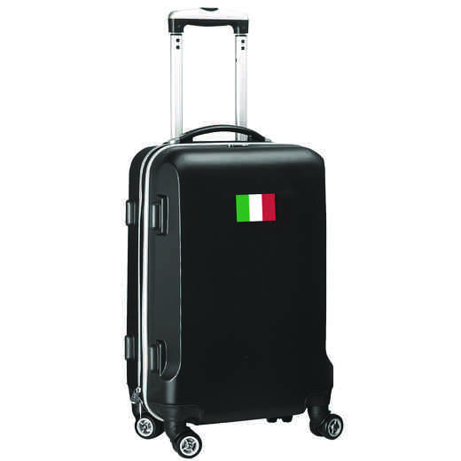 "FLITL204-BLACK: Italy Flag 21"" Carry-On Spinner Black"