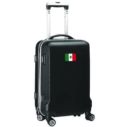 "FLMEL204-BLACK: Mexico Flag 21"" Carry-On Spinner Black"
