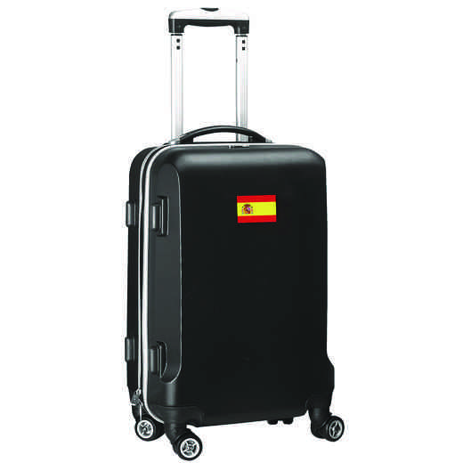 "FLSPL204-BLACK: Spain Flag 21"" Carry-On Spinner Black"
