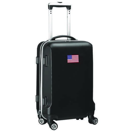 "FLUSL204-BLACK: American Flag 21"" Carry-On Spinner Black"
