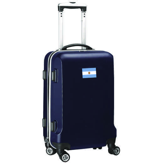 "FLARL204-NAVY: Argentina Flag 21"" Carry-On Spinner Navy"