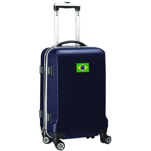"FLBRL204-NAVY: Brazil Flag 21"" Carry-On Spinner Navy"