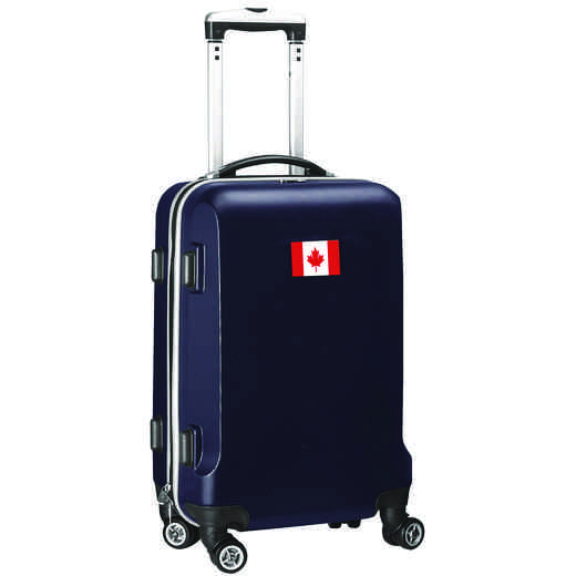 "FLCAL204-NAVY: Canada Flag 21"" Carry-On Spinner Navy"