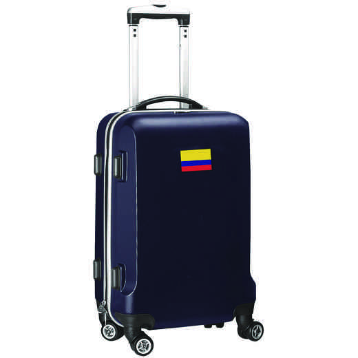 "FLCOL204-NAVY: Colombia Flag 21"" Carry-On Spinner Navy"