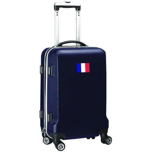 "FLFRL204-NAVY: France Flag 21"" Carry-On Spinner Navy"