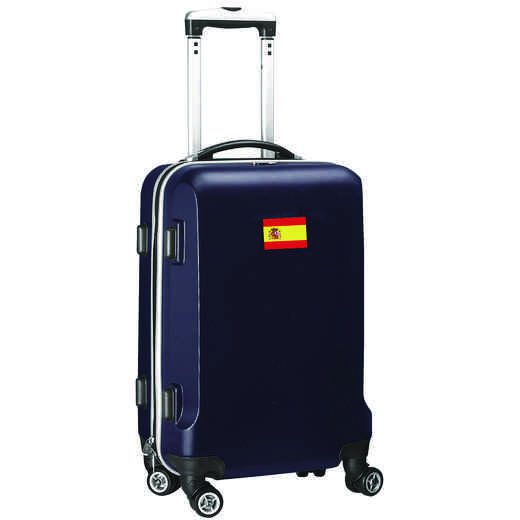 "FLSPL204-NAVY: Spain Flag 21"" Carry-On Spinner Navy"