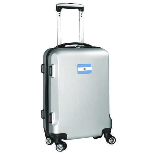 "FLARL204-SILVER: Argentina Flag 21"" Carry-On Spinner Silver"