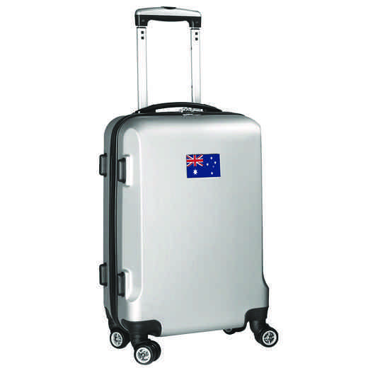 "FLAUL204-SILVER: Australia Flag 21"" Carry-On Spinner Silver"