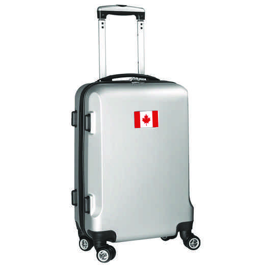 "FLCAL204-SILVER: Canada Flag 21"" Carry-On Spinner Silver"