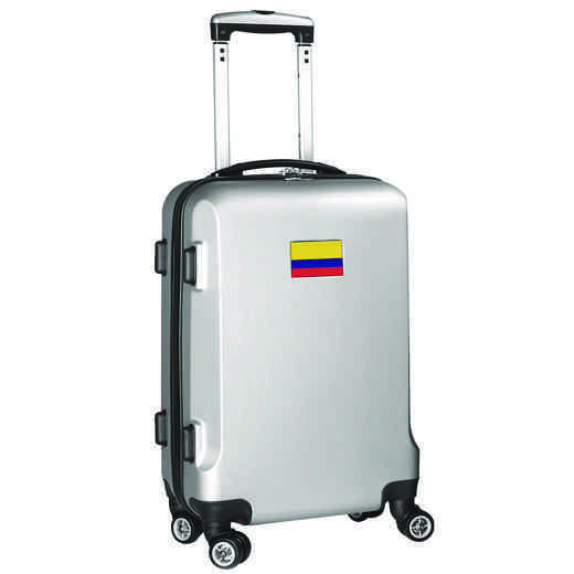 "FLCOL204-SILVER: Colombia Flag 21"" Carry-On Spinner Silver"