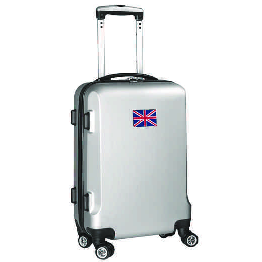 "FLENL204-SILVER: England Flag 21"" Carry-On Spinner Silver"